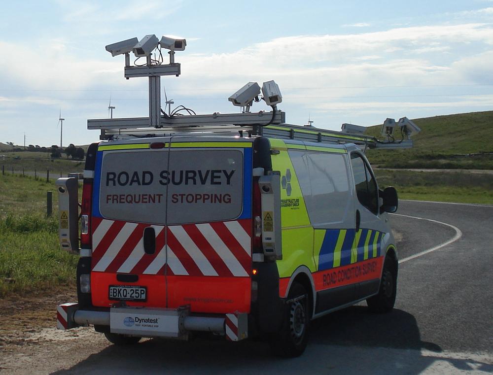 Road survey van