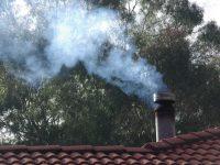 Wood fire smoke