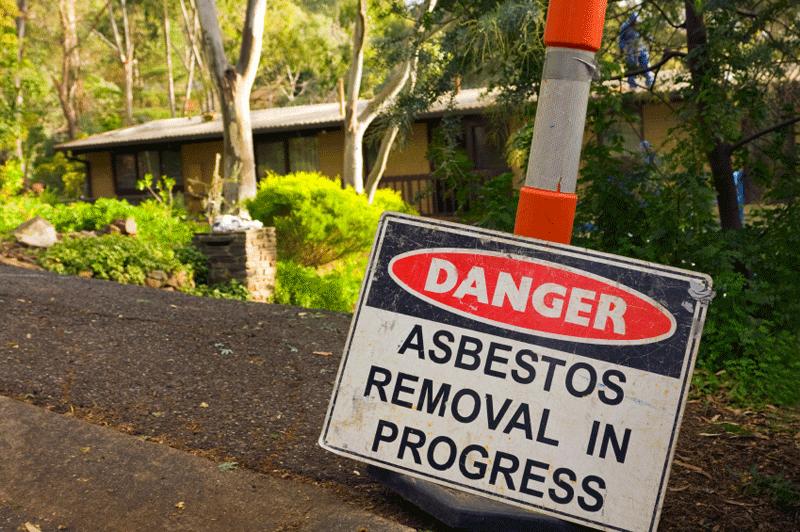 Asbestos signage