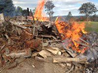 illegal pile burn