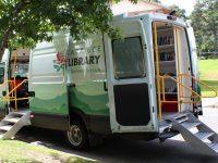 Library van parked on street