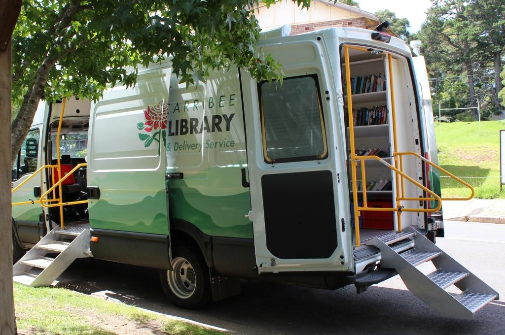 Library van parked on street