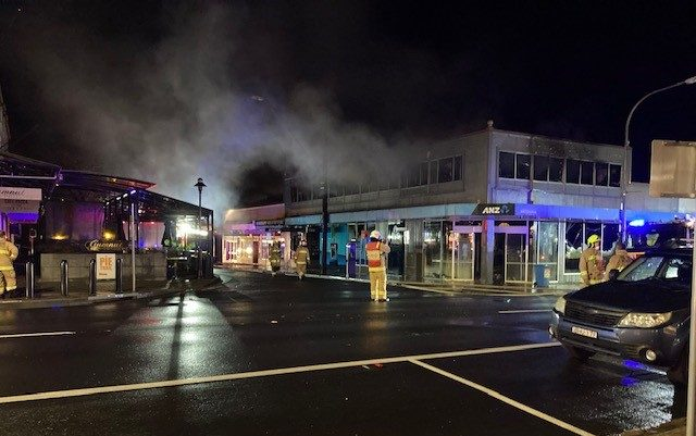 Extinguished fire on Bong Bong Street in Bowral