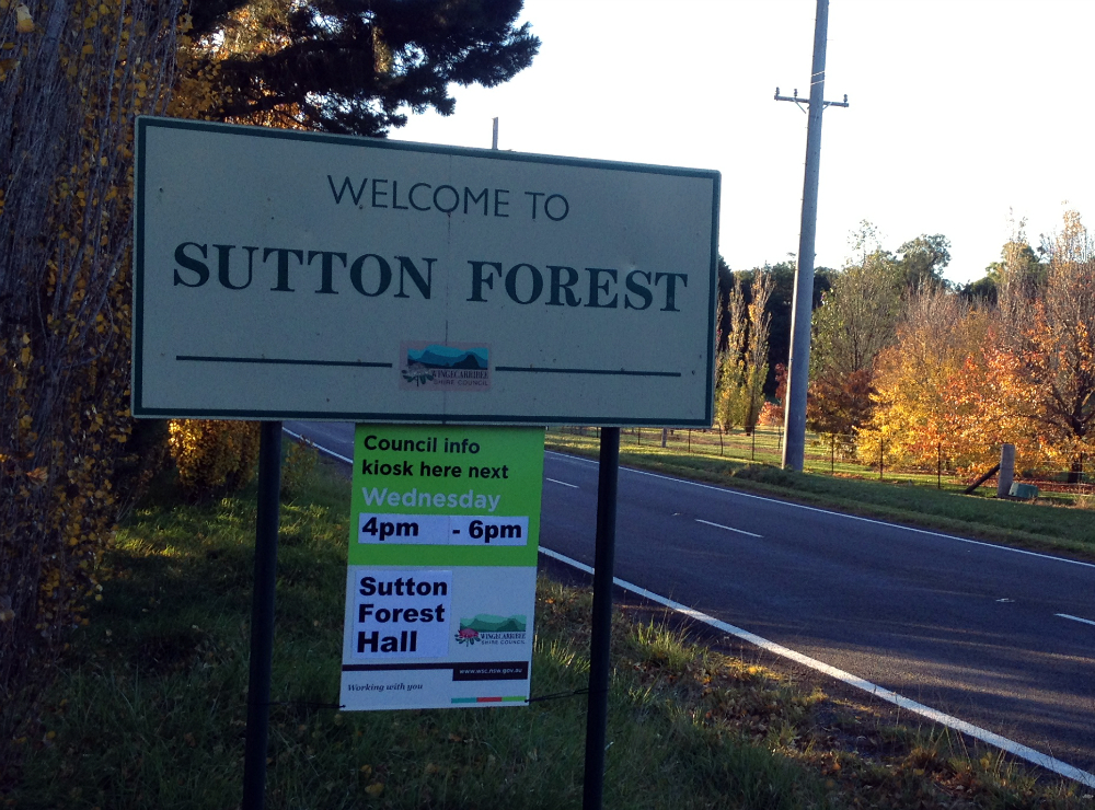 sutton forest sign