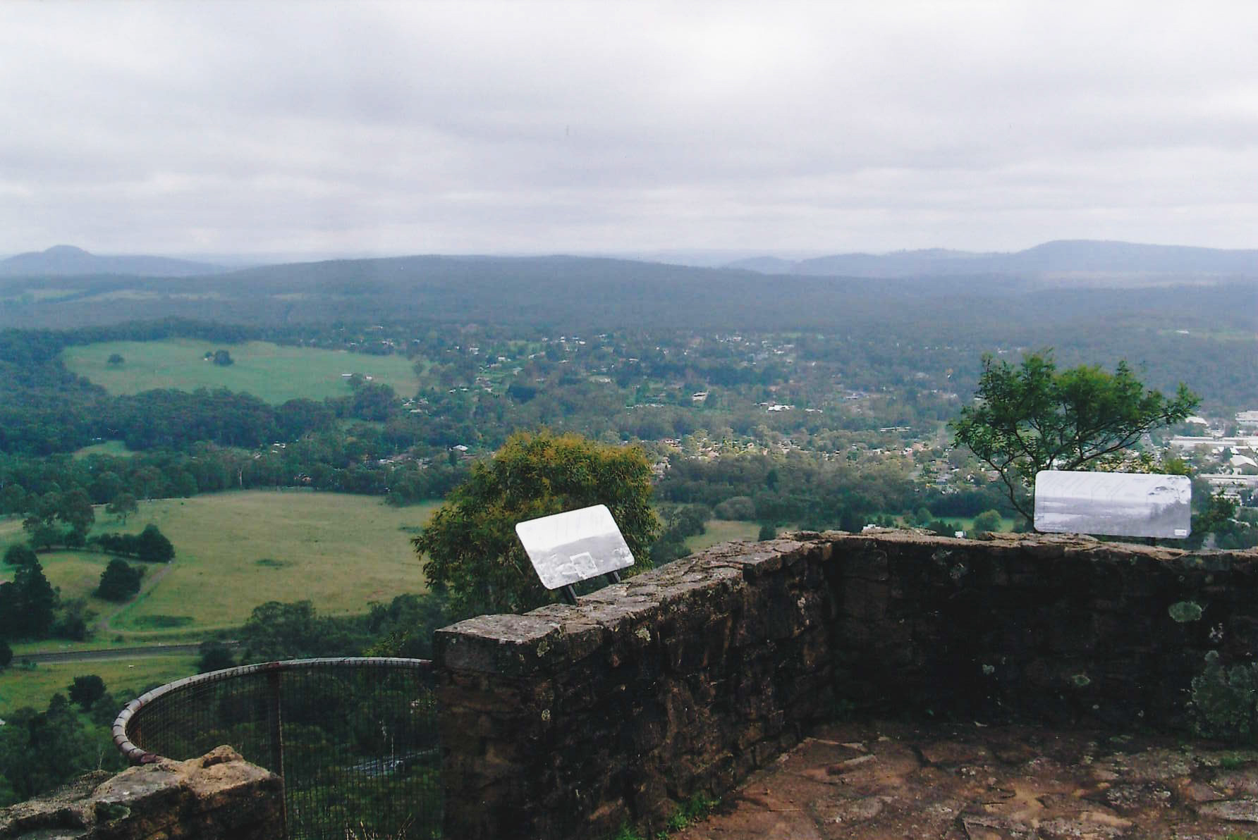 View of Mount Gibraltar Heritage Reserve's Jellore lookout in March 2012