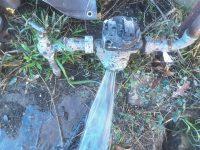 Water exploding out of broken water meter